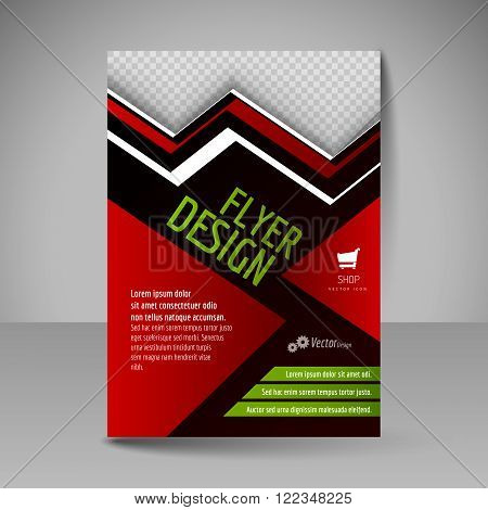 Template Of Flyer For Business Brochures, Presentations, Websites, Magazine Covers.