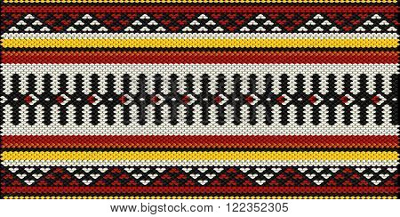 Traditional Arabian Style Sadu Weaving Illustrated Background