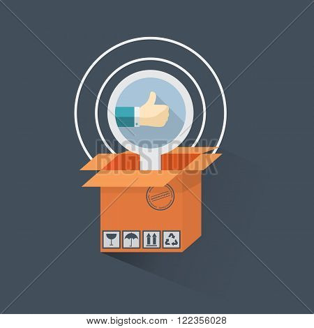 Best choice.Vector flat design shopping concept, buying online and e-commerce poster, online shop and shopping elements, online store, payment online.Thumb up.Hand with a finger up.