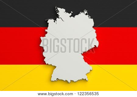 Silhouette Of Germany Map With Germany Flag