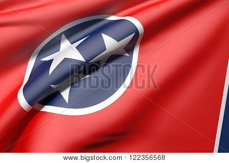 Tennessee Flag Waving