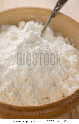 Cornflour or cornstarch a popular food ingredient used in baking and for thickening sauces or soups