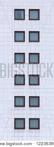 High Image Of Facade With Window Panes