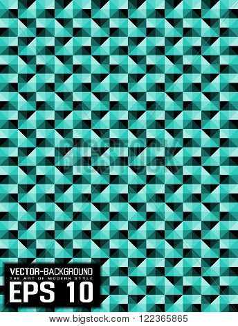 ABSTRACT BACKGROUND PATTERN MOSAIC GREEN WATHER for web and other