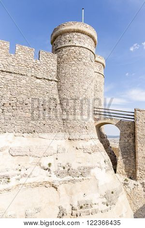 Ancient moated castle in Chinchilla de Monte Aragon - Albacete - Spain