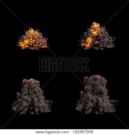Fire Explosions Isolated Set
