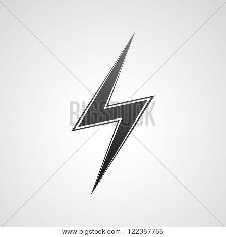 Black lightning icon. Sign of lightning - vector illustration.