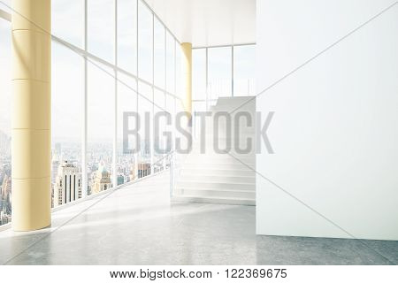 Business Interior With City View
