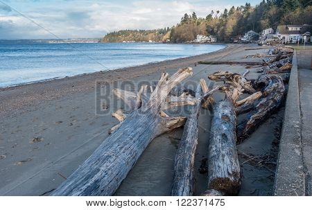 A view of the beach at Dash Point Washington.