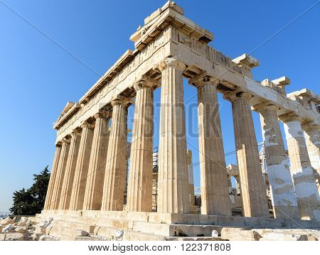 Parthenon temple at the Acropolis in Athens, Greece