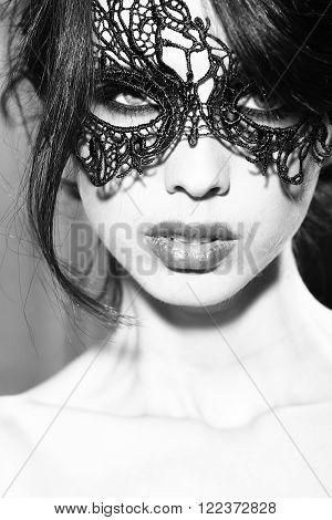 Sensual Woman In Mask