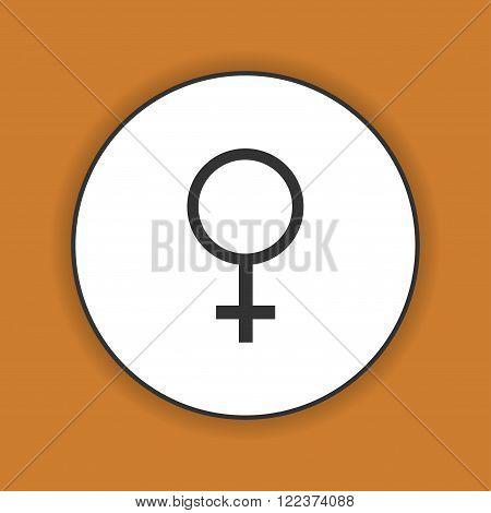 female sign icon. Flat design style eps 10