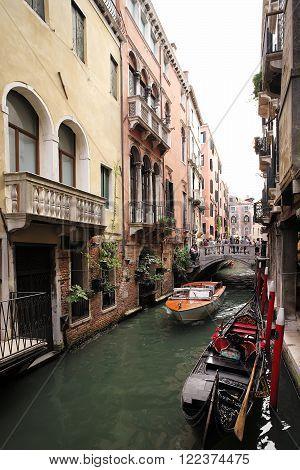 Bridge Across Venetian Canal