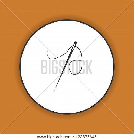 Needle icon Flat design style eps 10