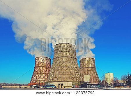 Thermal power plant in the small city