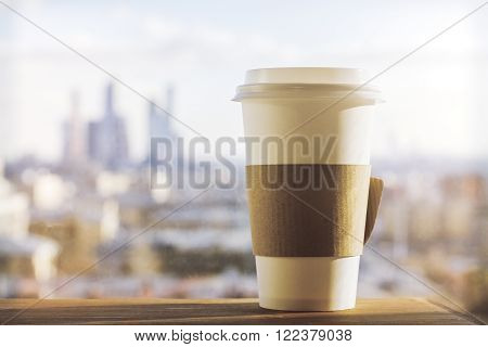 Coffee On City Background