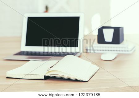 Blank Screen And Copybook