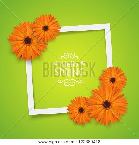 Bright spring background design. Vector resizable illustration.