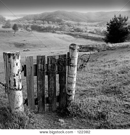 Gate Black And White