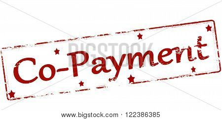 Rubber stamp with text co payment inside vector illustration