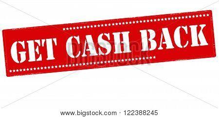 Rubber stamp with text get cash back inside vector illustration