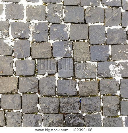Old Cobble Stone Street Background