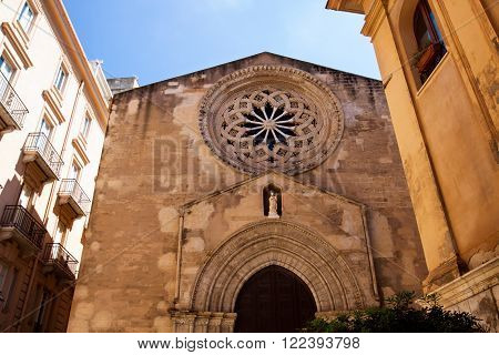 Church of Sant Agostino in Trapani. italy