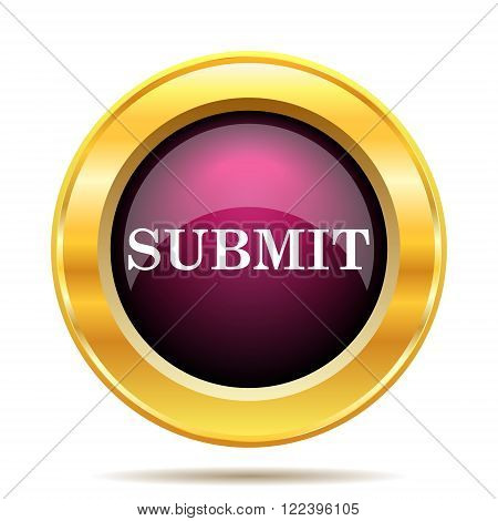 Submit icon. Internet button on white background.