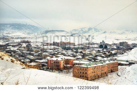View of Yerevan from Erebuni Fortress - Armenia