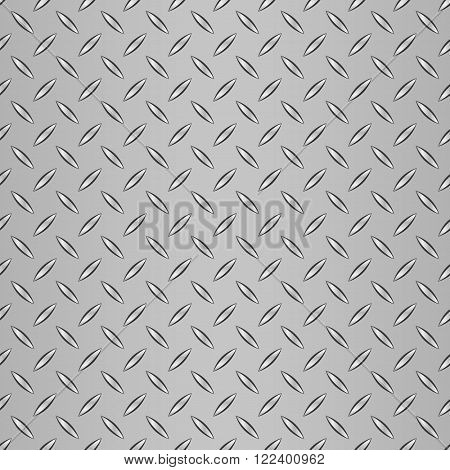 Realistic corrugated steel seamless pattern. Steel background.