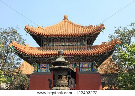 pavilion at the Confucius Temple in Beijing, China