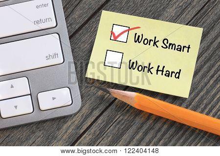 choosing to work smart instead of work hard