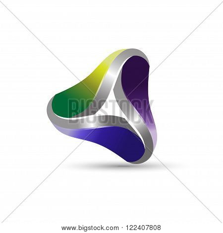 abstract 3d triangle infinity corporate business vector logo design