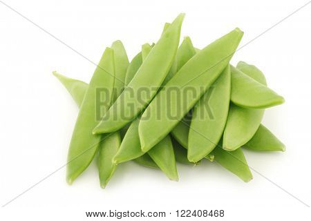 bunch of sugar snaps on a white background