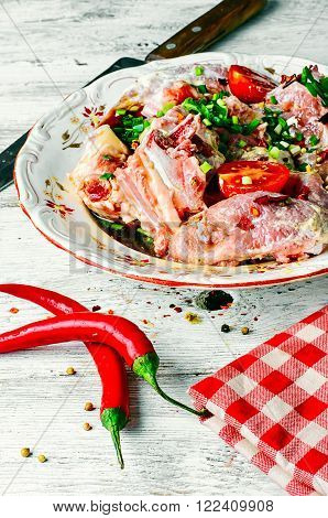 Marinated Veal With Spices