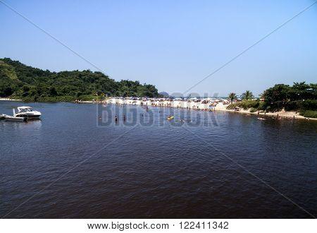View of Exotic Lake in Brazil