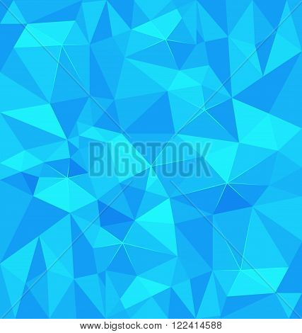 Blue polygonal background vector for summer concept