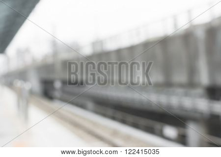 Abstract background of station of train or mrt, shallow depth of focus.