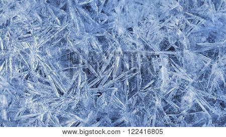 Texture of natural ice pattern close up