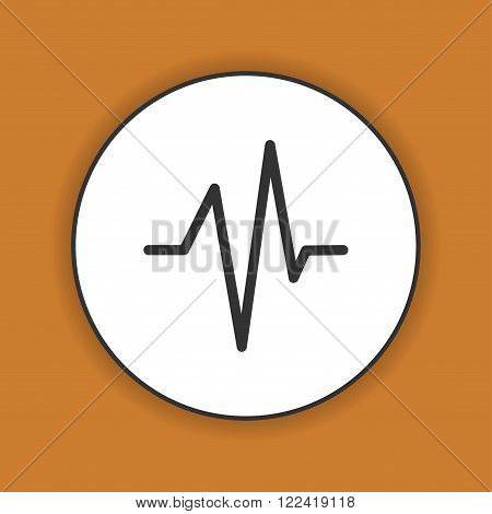 Heart beat Cardiogram Medical icon - Vector. Flat design style eps 10