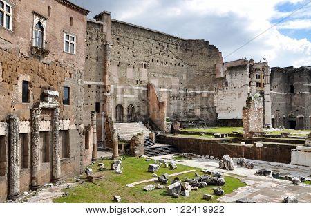 Imperial forum of Emperor Augustus in Rome