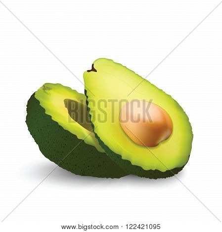 Fresh and fragrant Avocado with a pip  for your design