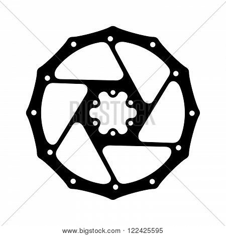 Sprocket, a part of a machine, shade picture