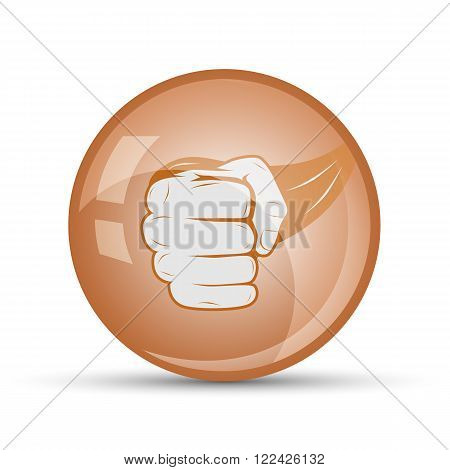 fist icon to close sports on a white background