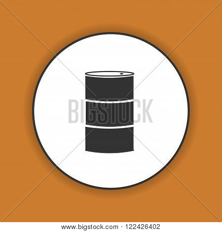 Simple icon barrels of oil. Flat design style.
