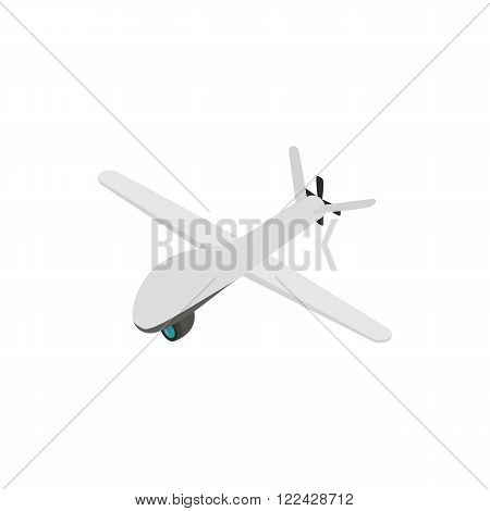 Glider icon in isometric 3d style on a white background