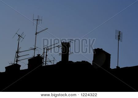 Communication Antenna  Silhouette