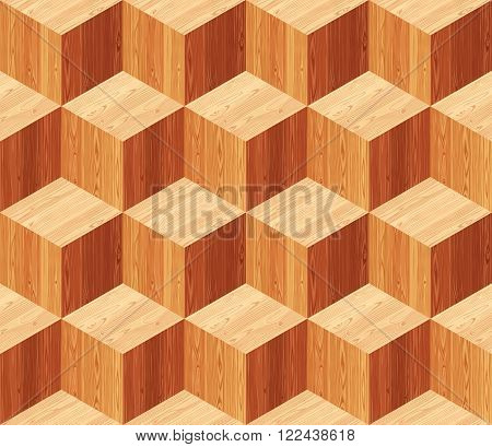 Diamonds parquet seamless floor texture. Editable vector pattern in swatches.