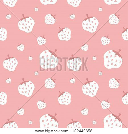 Creamy strawberry wallpaper, gentle background. For your design
