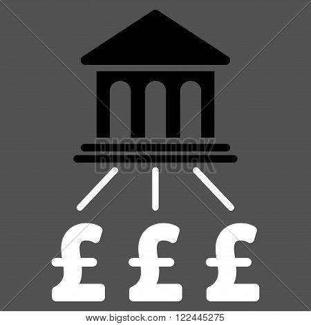 Pound Bank Scheme vector icon. Pound Bank Scheme icon symbol.